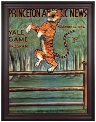 1932 Princeton Tiger vs Yale Bulldogs 36x48 Framed Canvas Historic Football Program
