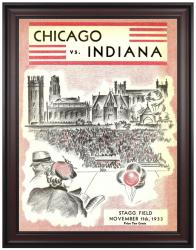 1933 Indiana Hoosiers vs Chicago Maroons 36x48 Framed Canvas Historic Football Program