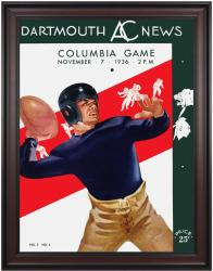 1936 Dartmouth Big Green vs Columbia Lions 36x48 Framed Canvas Historic Football Poster