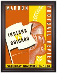 1936 Indiana Hoosiers vs Chicago Maroons 36x48 Framed Canvas Historic Football Program