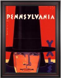 1936 Yale Bulldogs vs Penn Quakers 36x48 Framed Canvas Historic Football Poster