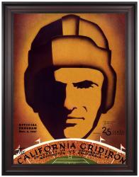 1937 California Bears vs Washington Huskies 36x48 Framed Canvas Historic Football Print