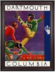 1937 Columbia Lions vs Dartmouth Big Green 36x48 Framed Canvas Historic Football Poster