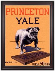 1937 Yale Bulldogs vs Princeton Tigers 36x48 Framed Canvas Historic Football Program