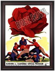 1938 California Bears vs Alabama Crimson Tide 36x48 Framed Canvas Historic Football Print