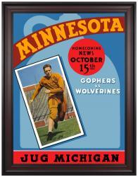 1938 Minnesota Golden Gophers vs Michigan Wolverines 36x48 Framed Canvas Historic Football Print