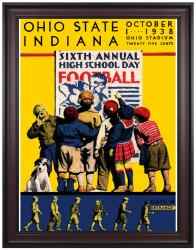 1938 Ohio State Buckeyes vs Indiana Hoosiers 36x48 Framed Canvas Historic Football Print