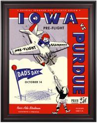 1944 Purdue Boilermakers vs Iowa Pre-Flight Seahawks 36x48 Framed Canvas Historic Football Poster