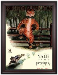 1945 Princeton Tiger vs Yale Bulldogs 36x48 Framed Canvas Historic Football Program