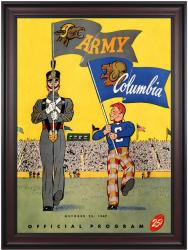 1947 Columbia Lions vs Army Black Knights 36x48 Framed Canvas Historic Football Poster