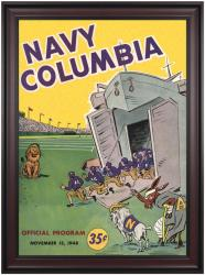 1948 Columbia Lions vs Navy Midshipmen 36x48 Framed Canvas Historic Football Poster - Mounted Memories