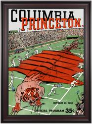 1948 Columbia Lions vs Princeton Tigers 36x48 Framed Canvas Historic Football Poster