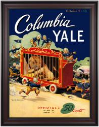 1948 Yale Bulldogs vs Columbia Lions 36x48 Framed Canvas Historic Football Poster - Mounted Memories