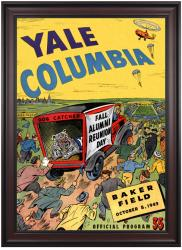 1949 Columbia Lions vs Yale Bulldogs 36x48 Framed Canvas Historic Football Poster - Mounted Memories