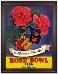 1950 Ohio State Buckeyes vs California Bears 36x48 Framed Canvas Historic Football Print