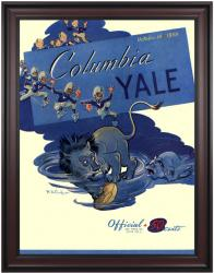 1950 Yale Bulldogs vs Columbia Lions 36x48 Framed Canvas Historic Football Poster - Mounted Memories