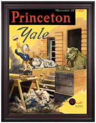 1950 Yale Bulldogs vs Princeton Tigers 36x48 Framed Canvas Historic Football Program