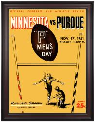 1951 Purdue Boilermakers vs Minnesota Golden Gophers 36x48 Framed Canvas Historic Football Print