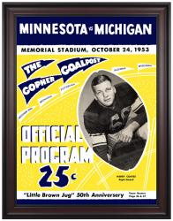 1953 Minnesota Golden Gophers vs Michigan Wolverines 36x48 Framed Canvas Historic Football Print