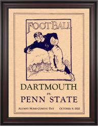 1920 Penn State Nittany Lions vs Dartmouth Big Green 36x48 Framed Canvas Historic Football Poster
