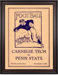 1921 Penn State Nittany Lions vs Carnegie Tech  36x48 Framed Canvas Historic Football Poster
