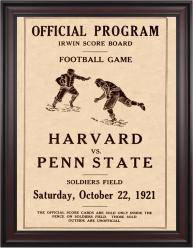 1921 Penn State Nittany Lions vs Harvard Crimson 36x48 Framed Canvas Historic Football Poster