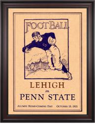 1921 Penn State Nittany Lions vs Lehigh Mountain-Hawks 36x48 Framed Canvas Historic Football Poster