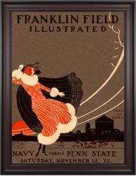 1921 Penn State Nittany Lions vs Navy Midshipmen 36x48 Framed Canvas Historic Football Poster