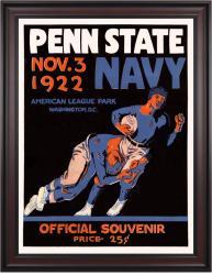 1922 Navy Midshipmen vs Penn State Nittany Lions 36x48 Framed Canvas Historic Football Poster
