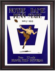 1925 Penn State Nittany Lions vs Notre Dame Fighting Irish 36x48 Framed Canvas Historic Football Poster