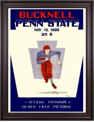 1926 Penn State Nittany Lions 36x48 Framed Canvas Historic Football Poster