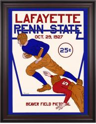 1927 Penn State Nittany Lions  36x48 Framed Canvas Historic Football Poster