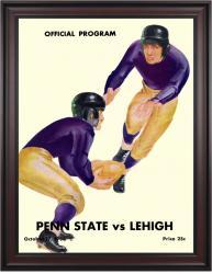 1936 Lehigh Mountain-Hawks vs Penn State Nittany Lions 36x48 Framed Canvas Historic Football Poster