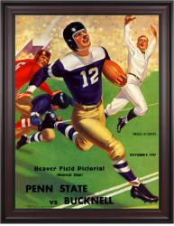 1937 Penn State Nittany Lions 36x48 Framed Canvas Historic Football Poster