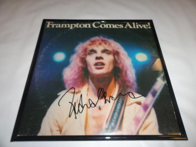 """Peter Frampton Signed Framed """"frampton Comes Alive"""" Album Autographed"""