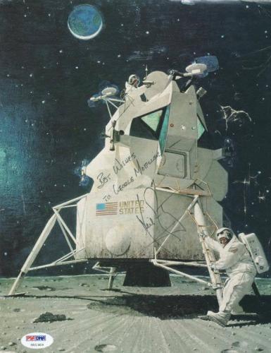 Neil Armstrong Signed 9X12 Apollo 11 Magazine Page Photo PSA #U01303