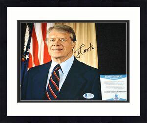 39th President Jimmy Carter signed 8 x 10, Georgia, Democrat,Beckett BAS D34818