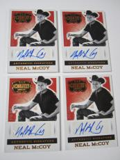 (4) 2014 Panini Country Music Neal McCoy Auto Autograph #'d359 No Doubt About It