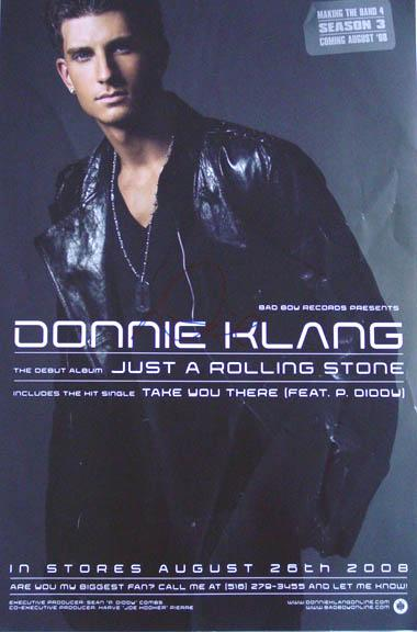 Donnie Klang Signed Just a Rolling Stone Poster & Proof