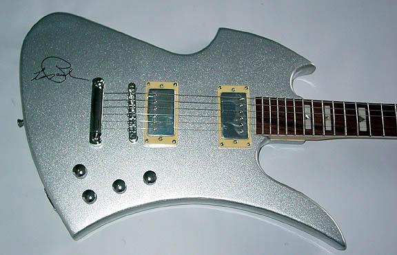 Les Paul Autographed Signed Silver Sparkle Guitar & Video Proof