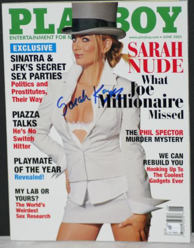 2003 Sarah Kozer, Joe Millionaire, Signed Playboy Magazine, June Issue, JSA
