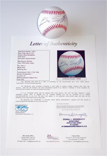 Bruce Springsteen Signed Major League Baseball Jsa Loa Y57035
