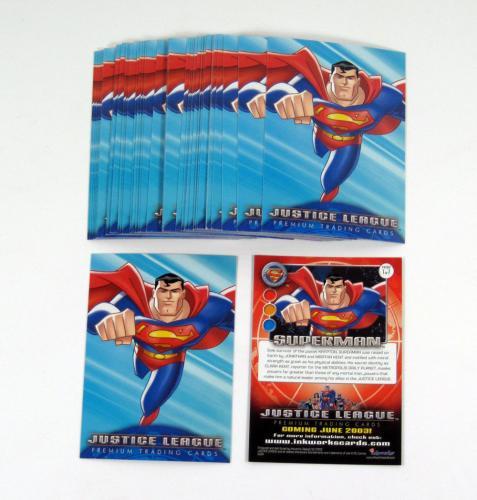 Lot of (50) 2001 Inkworks Justice League Superman Promo Card (#1)