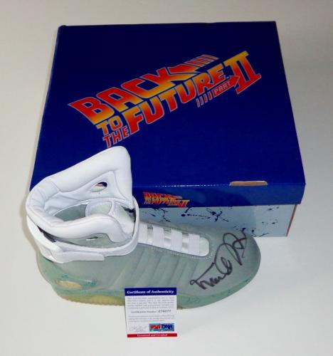 Michael J. Fox Signed Back To The Future Air Mag Sneaker Exact Proof Psa Z70277