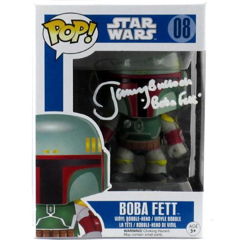 Jeremy Bulloch Signed Funko Pop Star Wars Boba Fett #08 Vinyl Bobble Head Figure