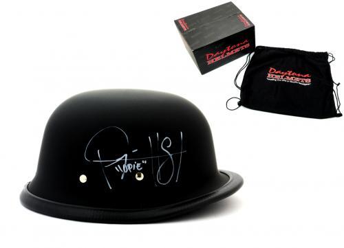 "Ryan Hurst ""Opie Winston"" Signed Daytona Matte Black Authentic Biker Helmet with ""Opie"" Inscription"