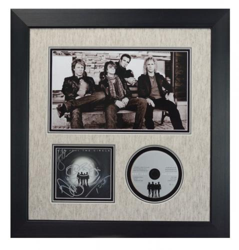 BON JOVI-The Circle CD signed by entire band custom framed display-JSA