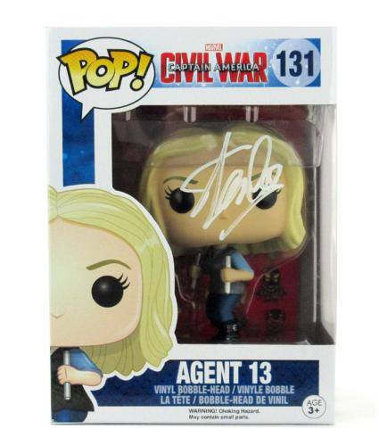 Stan Lee Signed Funko Pop! Marvel Civil War Agent 13 Toy