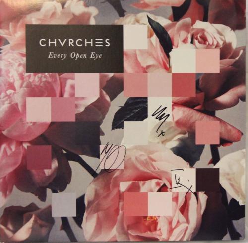 "CHVRCHES Lauren Mayberry +2 Signed ""Every Open Eye"" Album LP JSA #N92017"