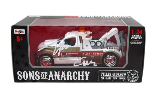 "Tommy Flanagan Signed Sons of Anarchy Teller Morrow Auto Service Tow Truck with ""Chibs"" Inscription"